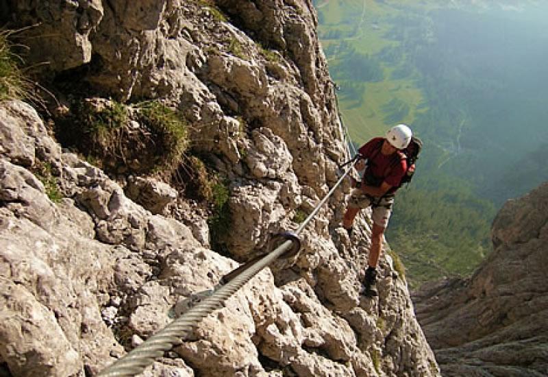 Vallon Klettersteig : Bergfex giovanni barbara a b klettersteig tour